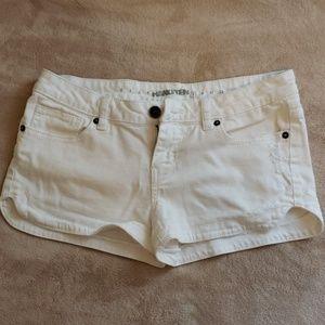 Juniors denim white shorts